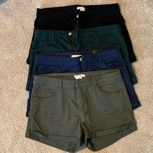 **H&M set of 4 colored shorts! Great condition!**